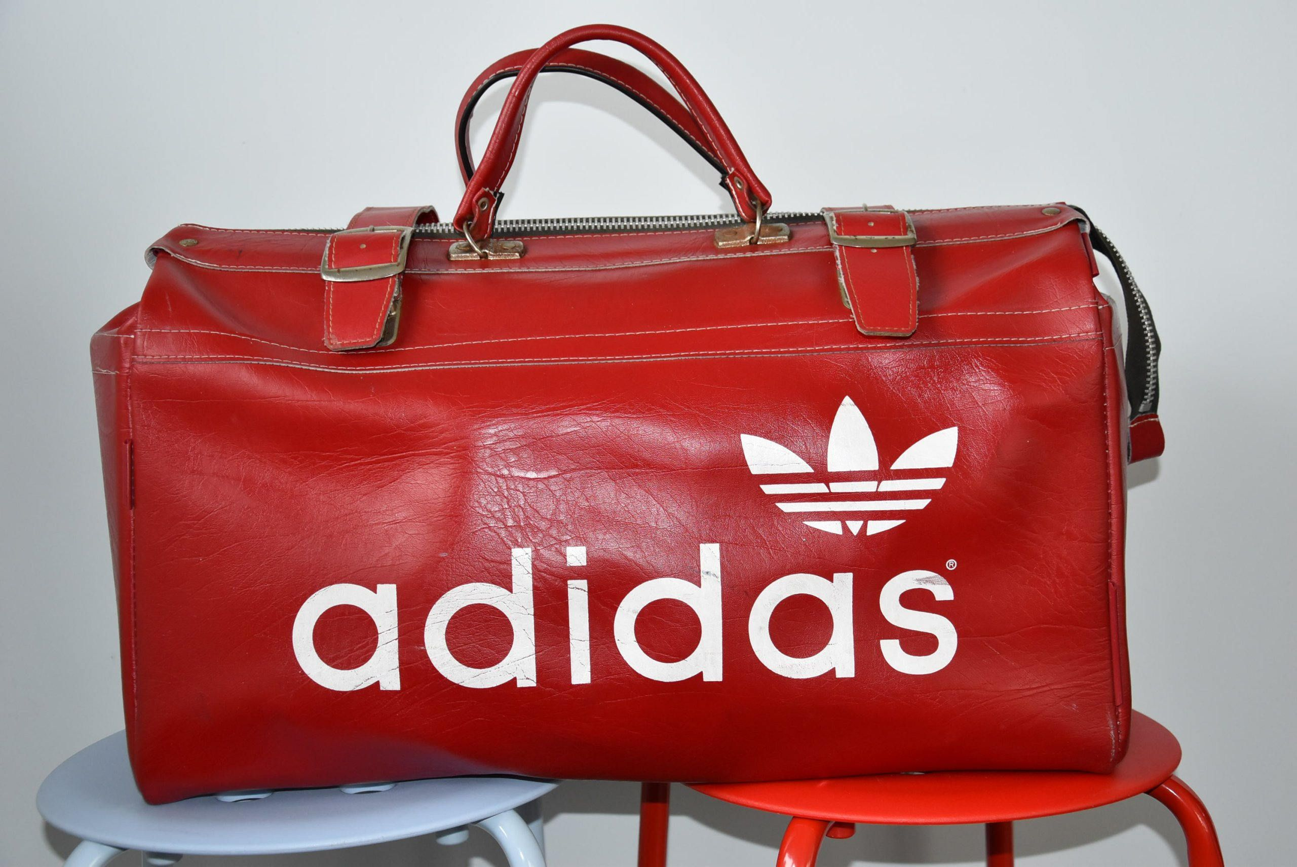 85b322e48e Adidas - Leather bag by SweetSpicyVintage on Etsy Adidas Bags