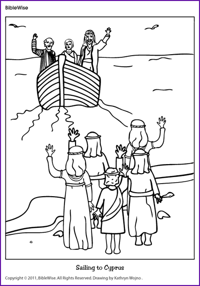 Paul Silas In Prison Bible Kids Coloring Sheets