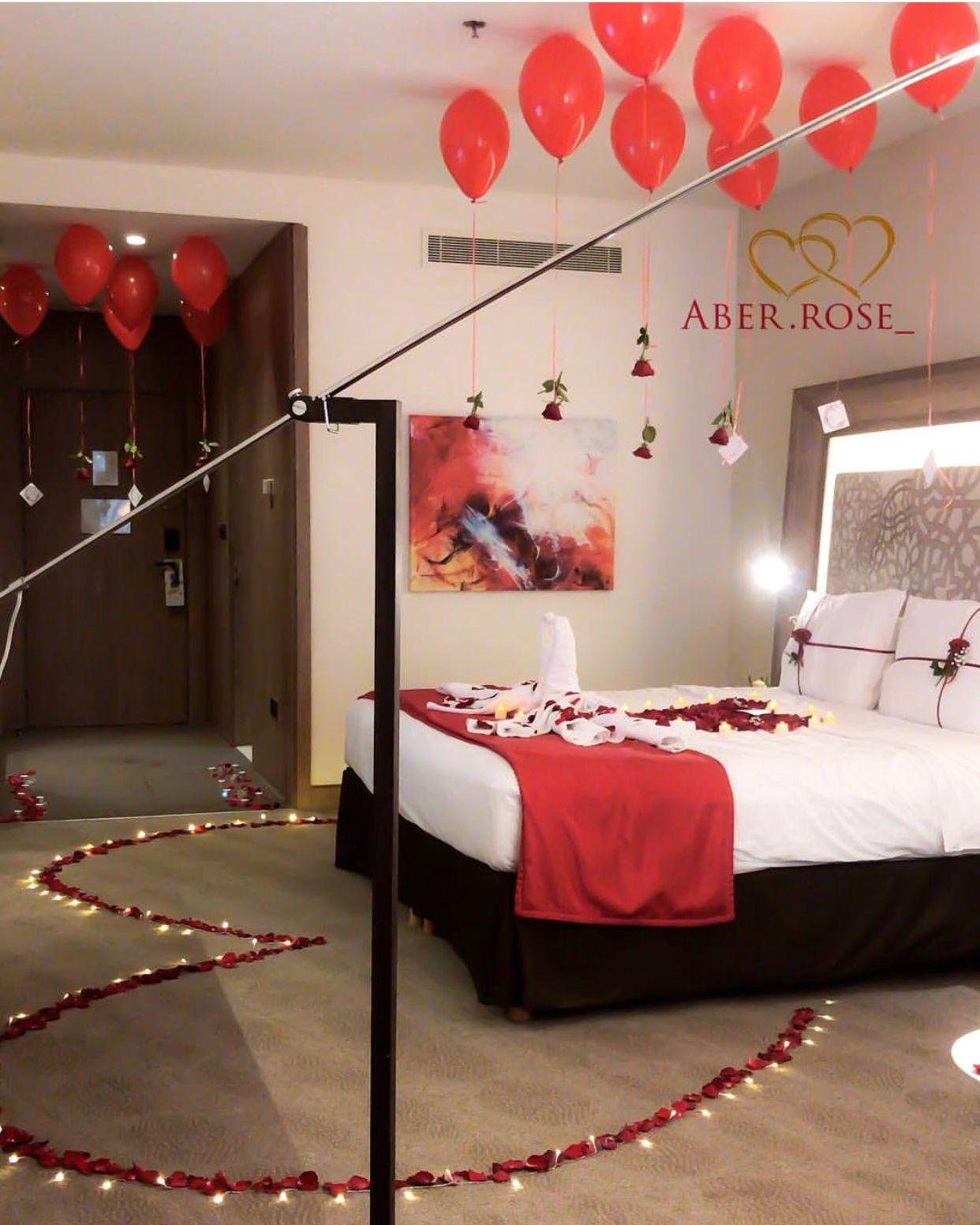 Pin By Ghada Salih On Romance Valentines Bedroom Wedding Bedroom Wedding Night Room Decorations