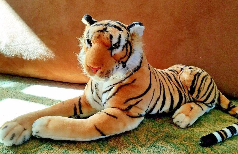 Tiger Plush Toy Animal Huge Realistic 47 Inch Stuffed Best Made Toys