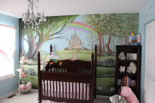 Enchanted forest murals nature themed nurseries for Woods themed nursery