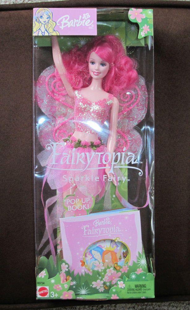 <3 Barbie FAIRYTOPIA Pink Sparkle Barbie Doll with Pop-Up Book NIB US $30.00