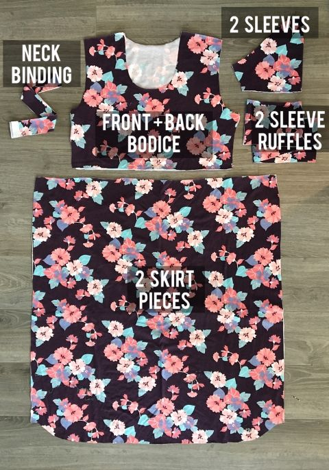 easy ruffle sleeve dress sewing tutorial | Ruffle sleeve dress ...