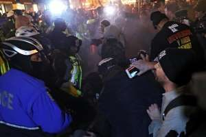 Anti-Trump Protesters Pepper Sprayed on Eve of Inauguration