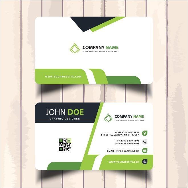 Free Vector Creative Design Business Cards Template Httpwww - 35 x2 business card template