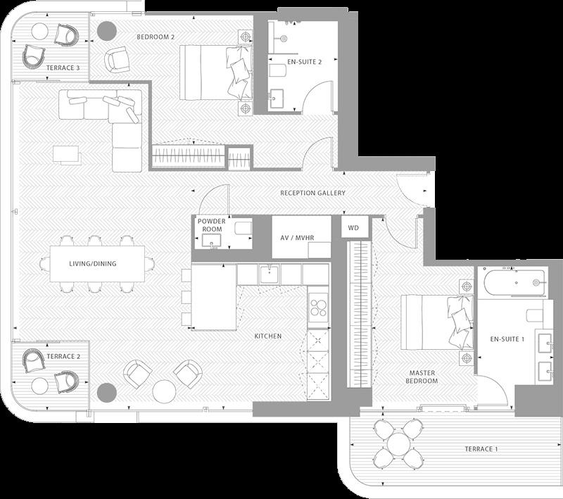 Floorplans Principal Tower Floor Plans Apartment Plans House Plans