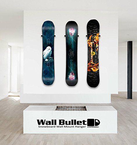 SkateHoarding Wall Bullet Snowboard Wall Mount Display