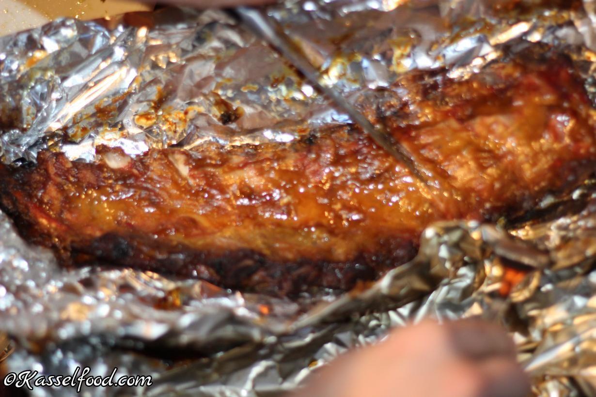 Spareribs Grillen Gasgrill Alufolie : Saftige rippchen: spareribs marinade mit honig und senf rezept