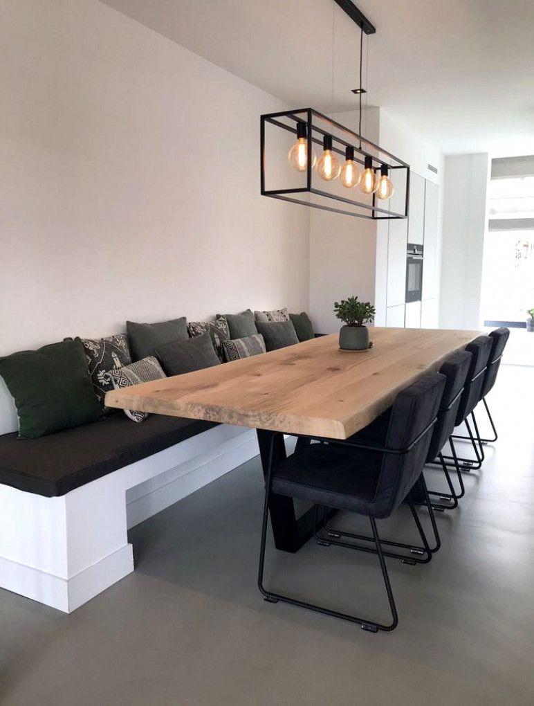 Banco mesa comedor + Mesa con pie central #SofaSet | Cocinas en 2019 ...