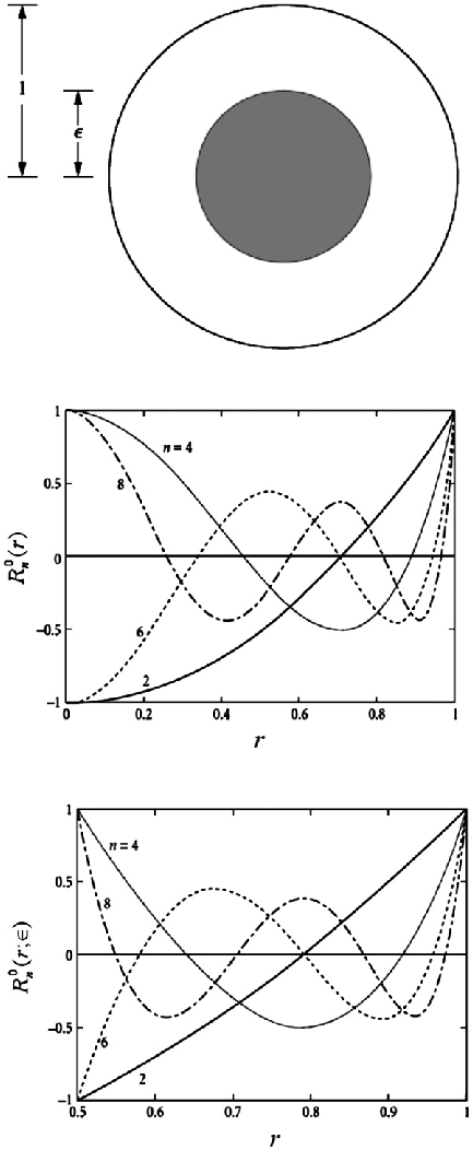 Figure 7. (a) Diagram of annular pupil. (b) The Zernike