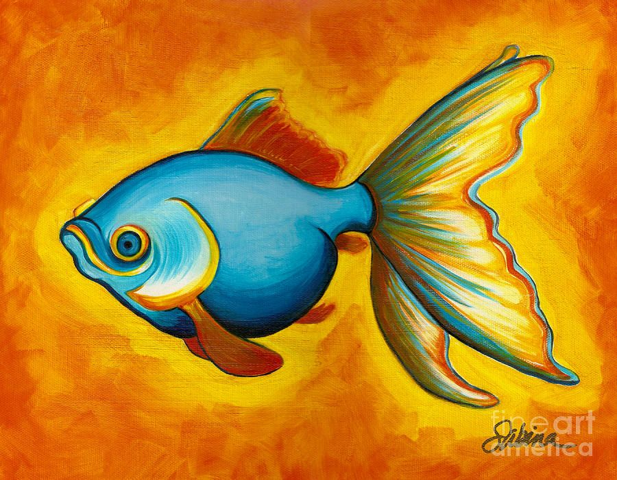 Goldfish canvas print canvas art by sabina espinet for Paintings of fish