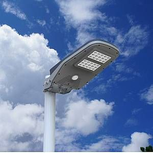 Photo of Smart integrated solar wall or pole lighting with remote control