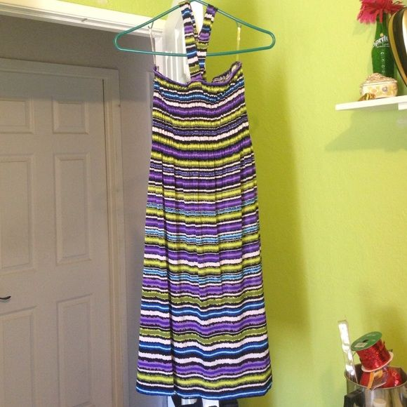 Halter summer dress Ready for summer!! Brand new never worn, the bust area is stretchy elastic. Dresses Midi