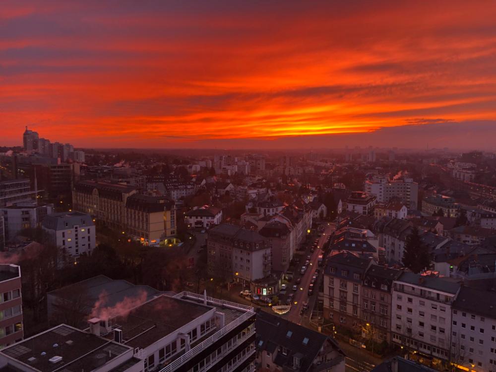 20 Home Twitter Airplane View Sunset Frankfurt Am Main