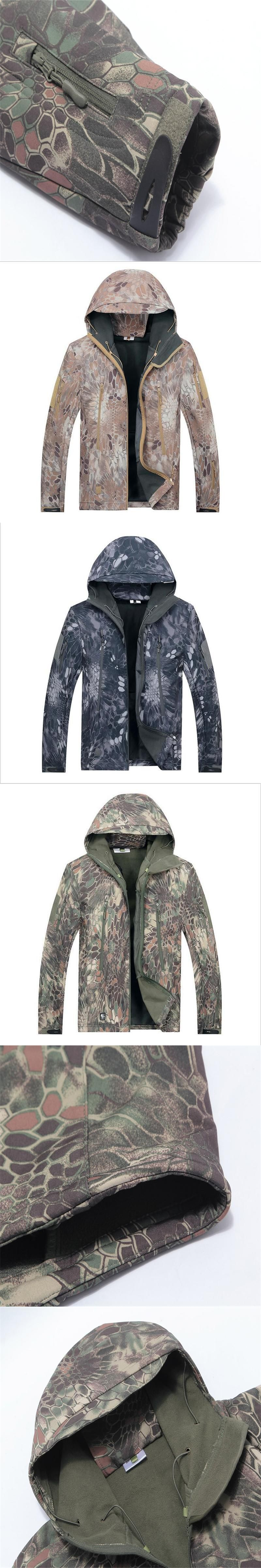 9855db30e32 Army Camouflage Coat Military Jacket Waterproof Windbreaker Raincoat Hunt  Clothes Army TAD Men Outerwear Jackets And