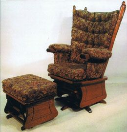 OFF Amish Furniture: Highback Swivel Glider W/Arm Covers: Oak. The Most  Comfortable Glider I Have Ever Sat In!
