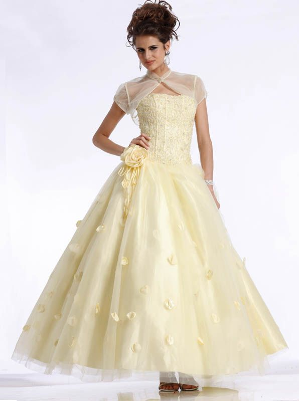 Yellow ball gown Clarisse Prom Dress 1344