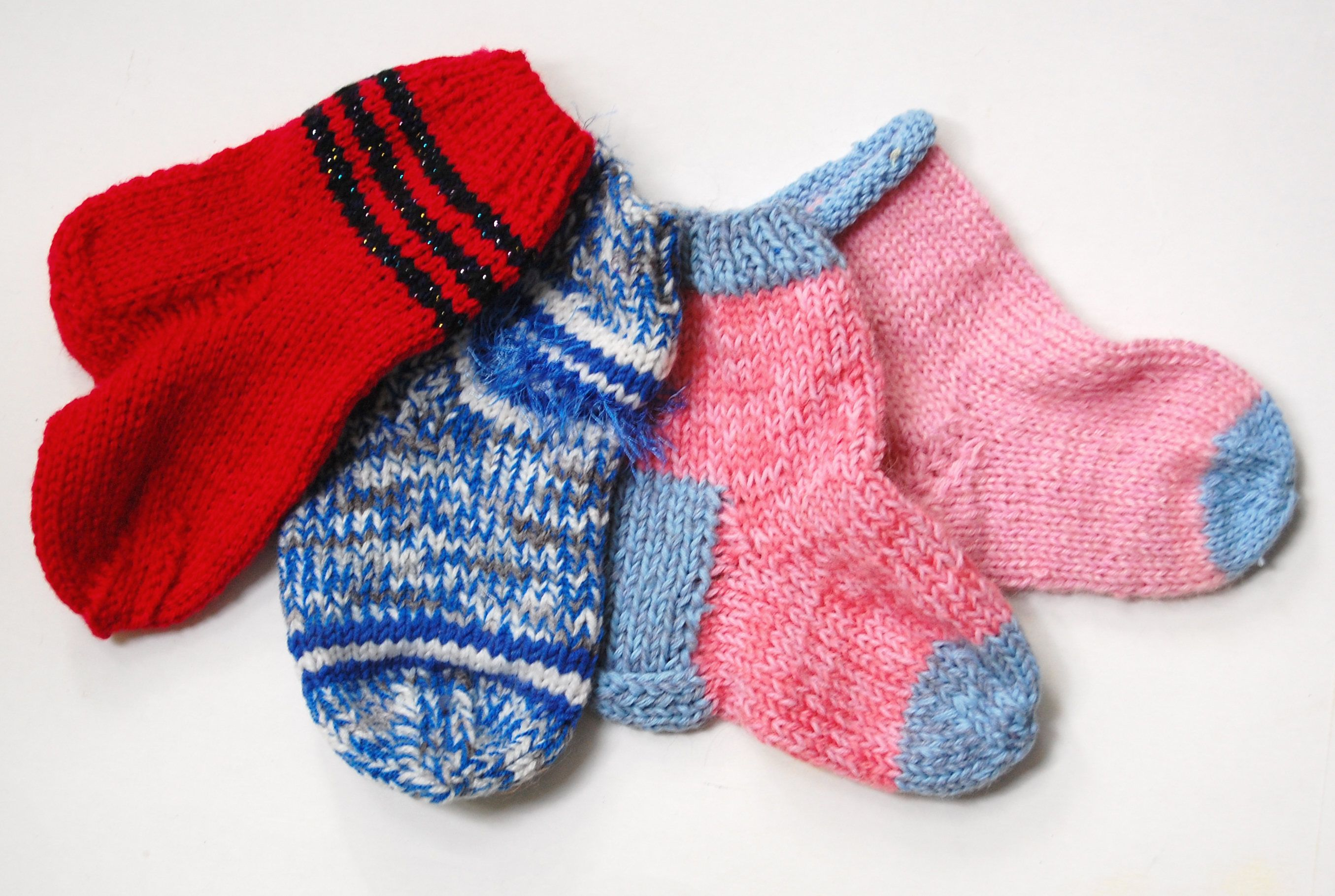 Knitted Baby Socks Wool Baby Socks Knitted Socks Rainbow Socks