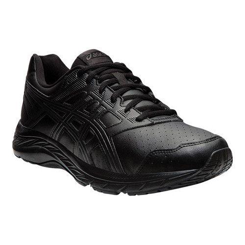 67a83a4ab96c7 Men's ASICS GEL-Contend 5 SL Walking Shoe - Black/Graphite Grey ...