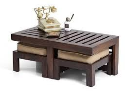Image Result For Urban Ladder Furniture Coffee Table Coffee Table With Stools Coffee Table Design