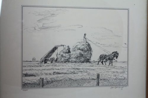 PETER ETRIL SNYDER Mennonite / Amish Farmers Signed Limited Edition Print 52/250 #Gifts