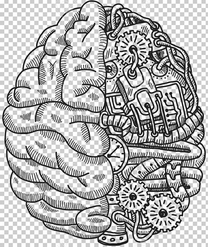 Human Brain Human Head Computer Icons Png Black And White Brain Clip Art Computer Icons Face Brain Icon Brain Png Human Head