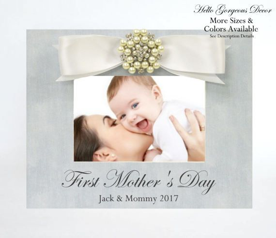 Mother\'s Day Gift to Mom from Baby Picture Frame FIRST MOTHER\'S DAY ...