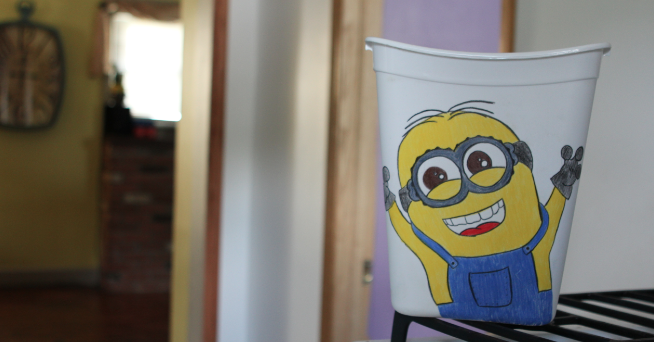 It S A Minion Party Despicable Me Minion Trash Can For More Information Visit Https Www Etsy Com Listing 157100542 Despic Minion Party Trash Can My Minion