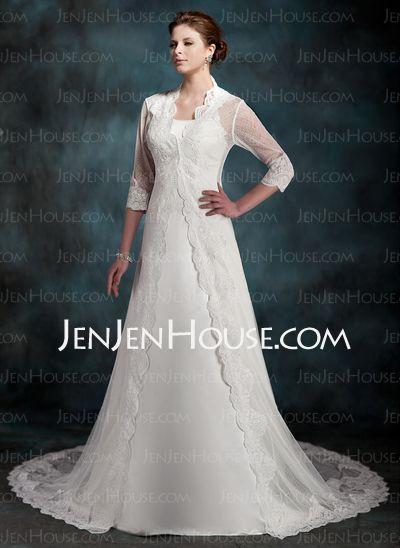 Wraps - $58.00 - 3/4-Length Lace Sleeve Wedding Jackets/Wraps (013022604) http://jenjenhouse.com/3-4-Length-Lace-Sleeve-Wedding-Jackets-Wraps-013022604-g22604