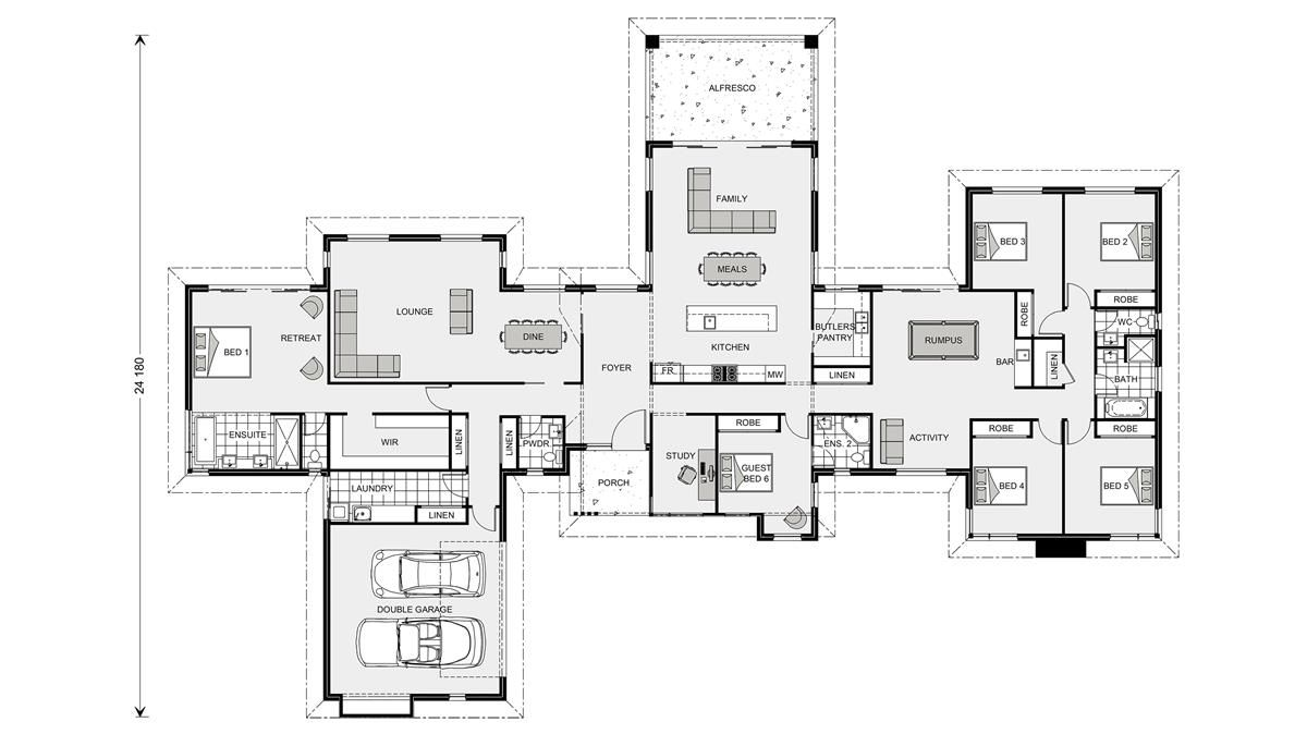 Mansfield 407 Home Designs In East Gippsland G J Gardner Homes House Plans Australia Dream House Plans 6 Bedroom House Plans