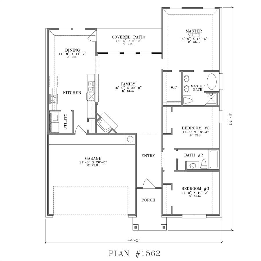 bedroom home floor plans on 3 bedroom 1 story open floor plan