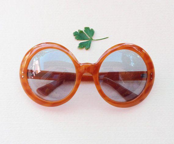9fce64b6c823 Vintage italian sunglasses   oversize round frames   by Skomoroki