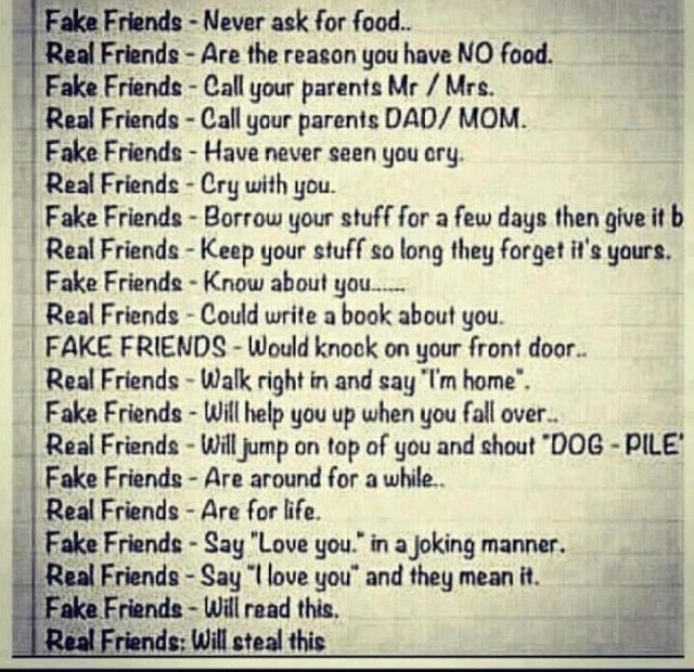 What kind of friend do you have ?