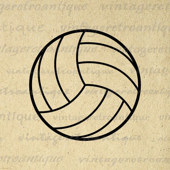 Volleyball Graphic Image Printable Download Sports Digital Artwork for Transfers Pillows Tea Towels etc HQ 300dpi No.3985