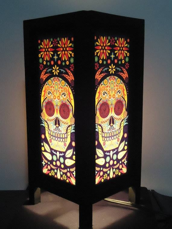 Beautiful lamp. Want to have one in my room. #mysugarskulls Only $12.5 here => http://tidd.ly/8c0c7e9e #sugarskulls #sugarskull #skull #dayofthedead #calavera