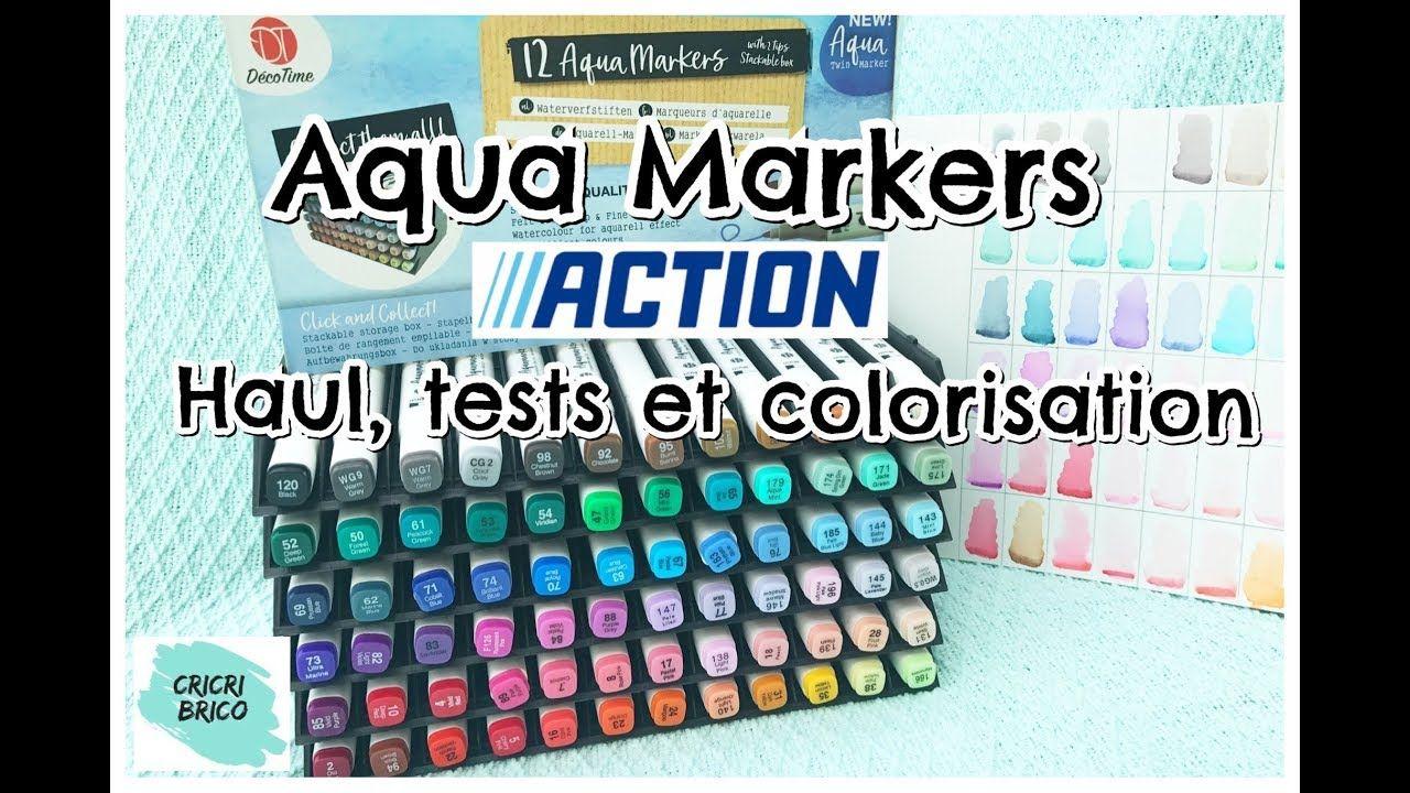 Haul Action Aqua Markers Partie 1 Tests Nuancier Et Colorisation
