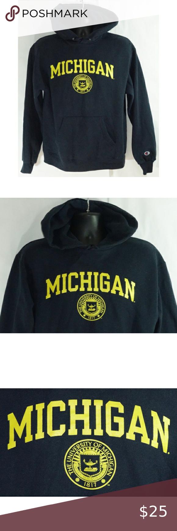 University Of Michigan Champion Pullover Hoodie M Champion Pullover Hoodie Champion Pullover Pullover Hoodie [ 1740 x 580 Pixel ]