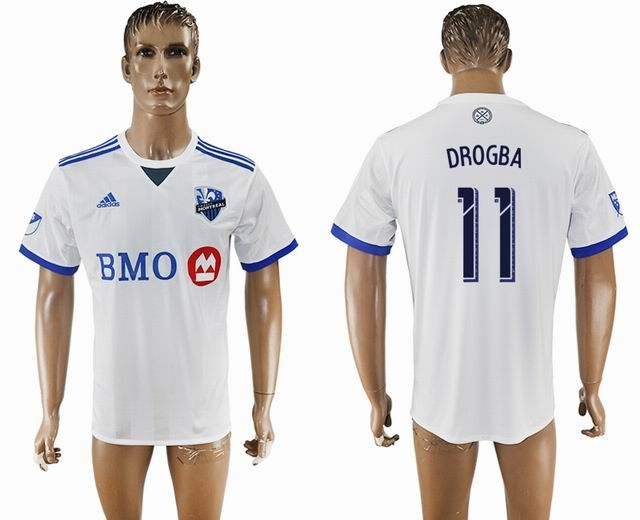 quality design 503ee 0d291 2017-2018 Montreal Impact Thailand version #11 DROGBA white ...