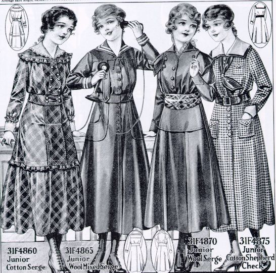 1910-1919 Fashion for Women | Middle Left and Far Right styles for ...