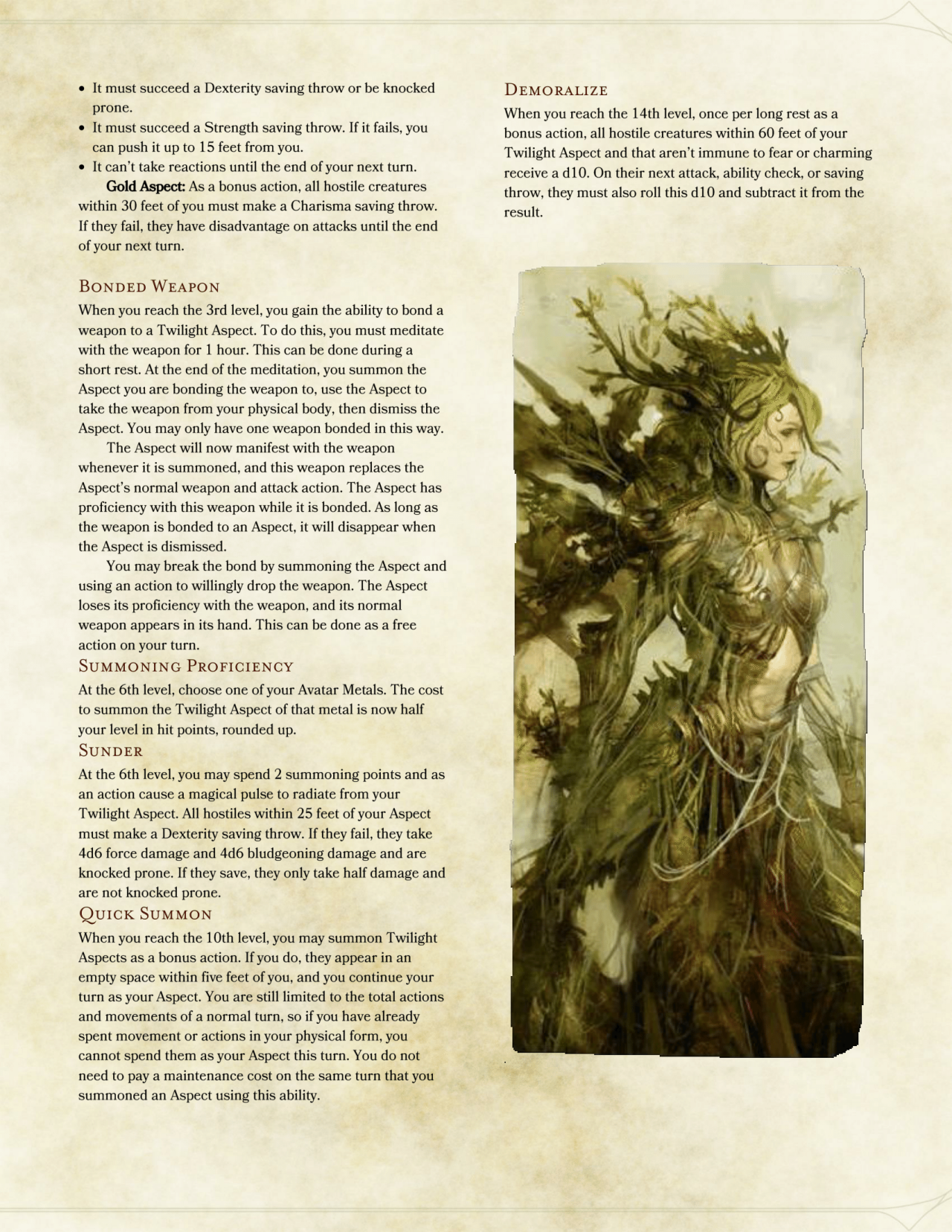 DnD 5e Homebrew — Avatar Class by OliverCaneStaff | dnd home-brew