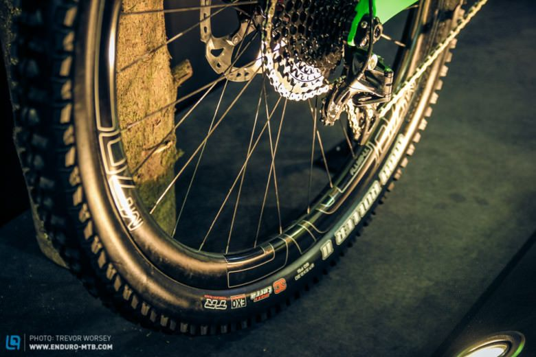 ENVE Wheels will be available as an option, the standard bike comes with a DT Swiss Wheelset.