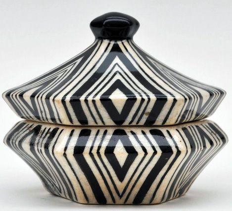 art d co cubisme tch que boites d coratives c ramique pavel jan k 1911 art d co. Black Bedroom Furniture Sets. Home Design Ideas