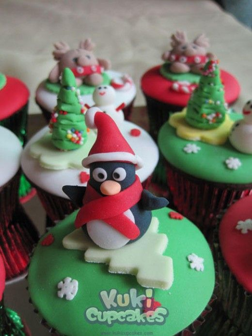 Cute Christmas Cupcakes Decorated cupcakes, Snacks and Cake