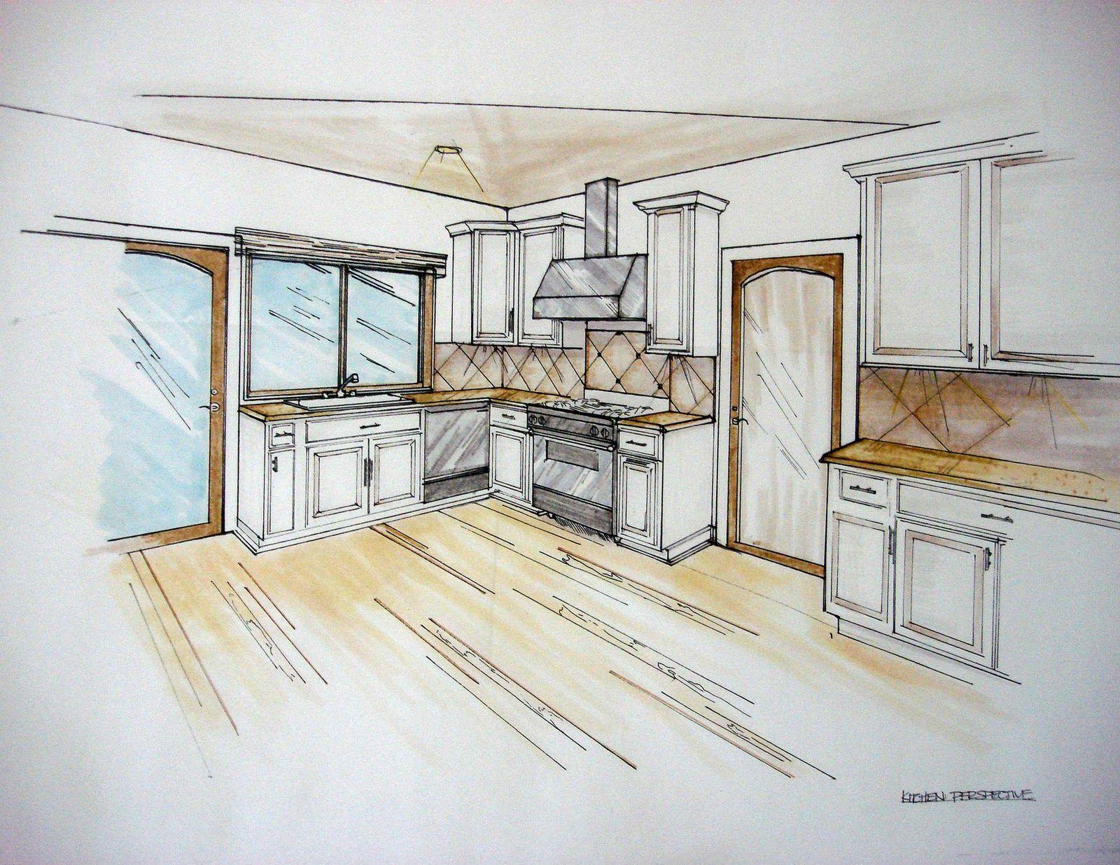 Кухни карандашом картинки