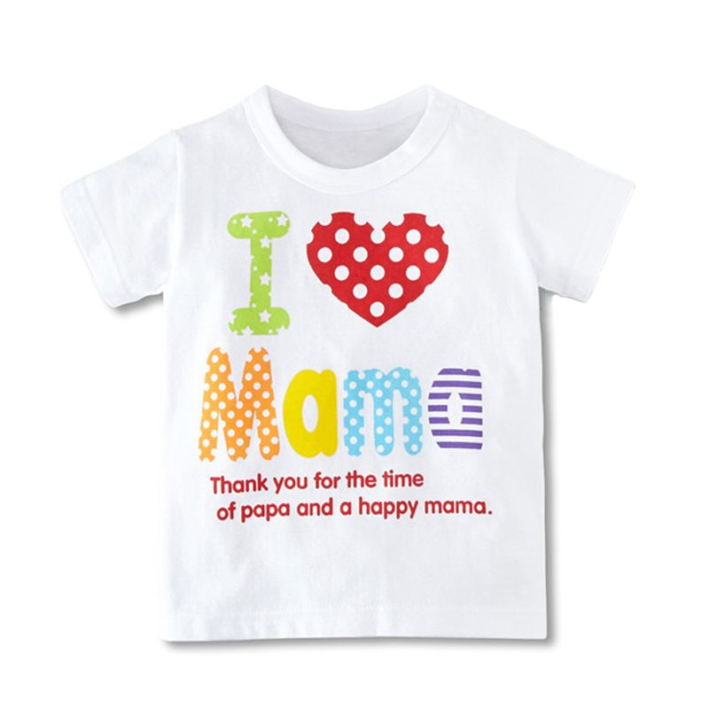 0a0dd3d167e2 Hot Sale Baby Boys Girls T-Shirt I Love Ma Ma Series Kids T-Shirt ...