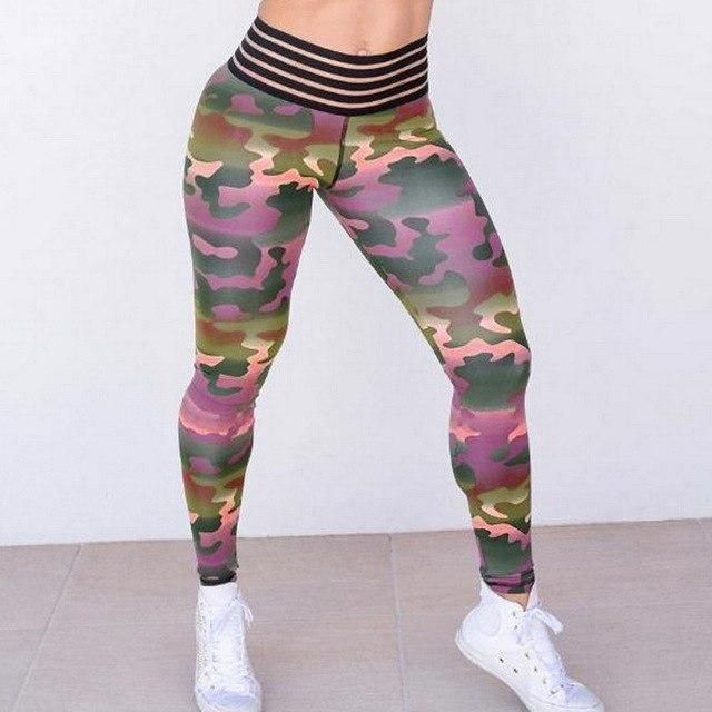 Women'S Printed Pleated Sweatpants Lace Pocket Leggings Yoga Pants Fitness Yoga Running Tights Sport...