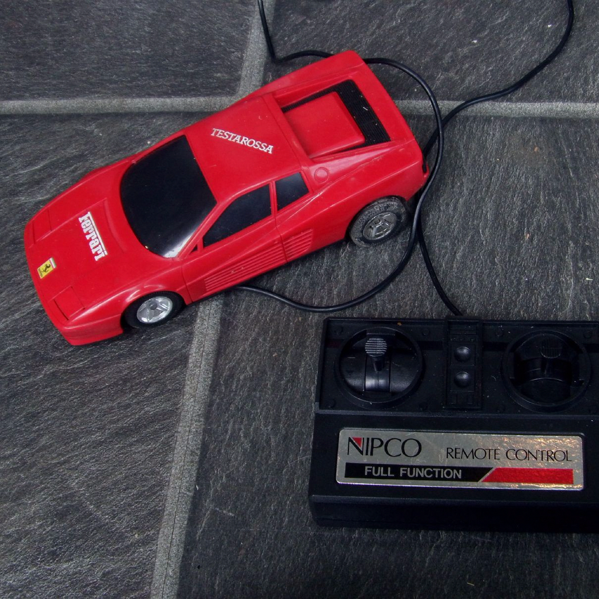 ITEM very nice Retro toy of a Ferrari Testarossa 80 s type