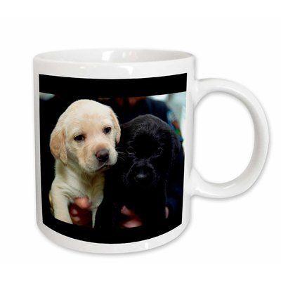 East Urban Home Lab Puppies Coffee Mug Capacity 11 Oz Yellow