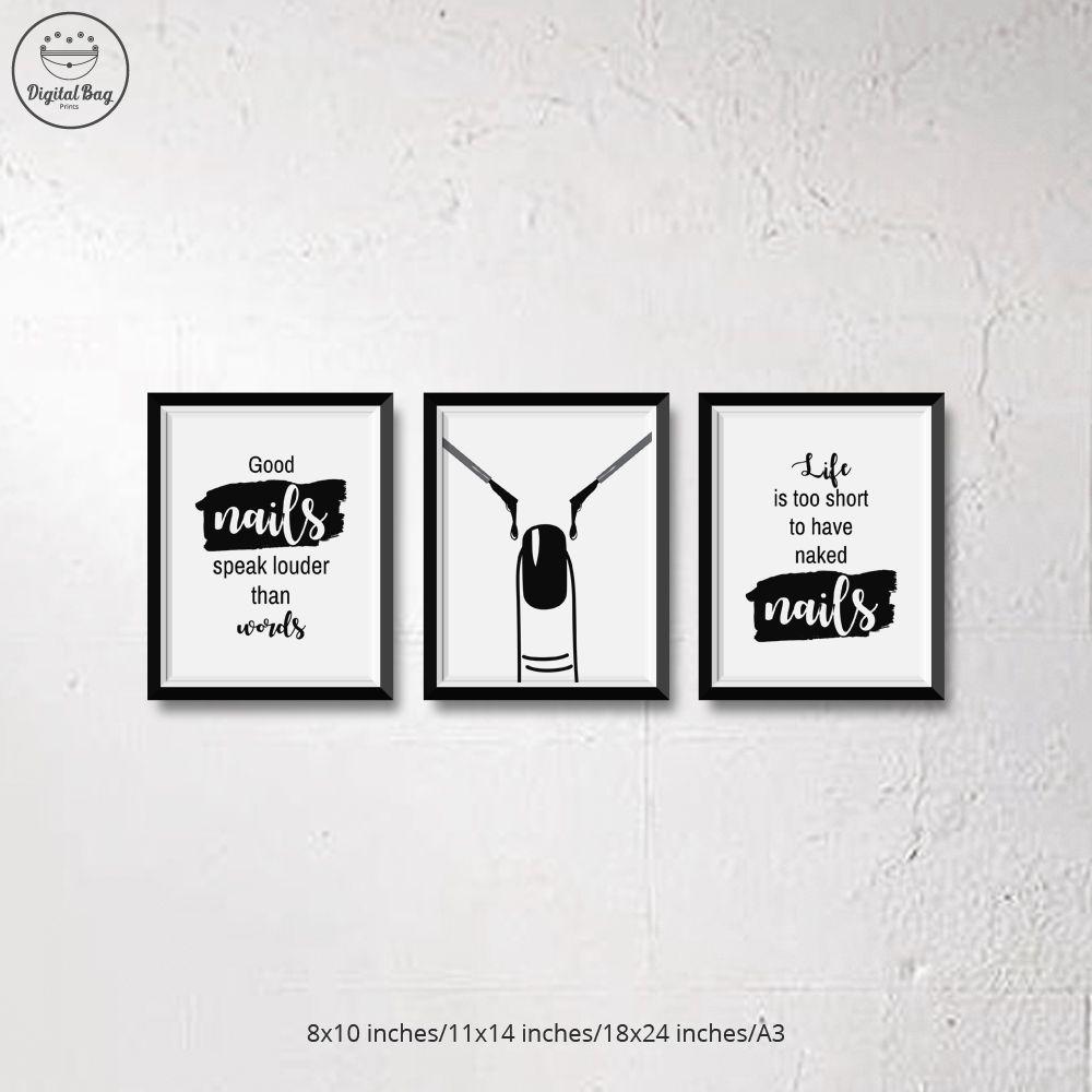Nail Design Salon Vinyl Wall Decal Sticker Airbrush Manicure Business Polish