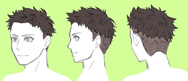 男性のリアルな髪型バリエーション 7選 いちあっぷ 男 髪型 イラスト イラスト 絵の描き方